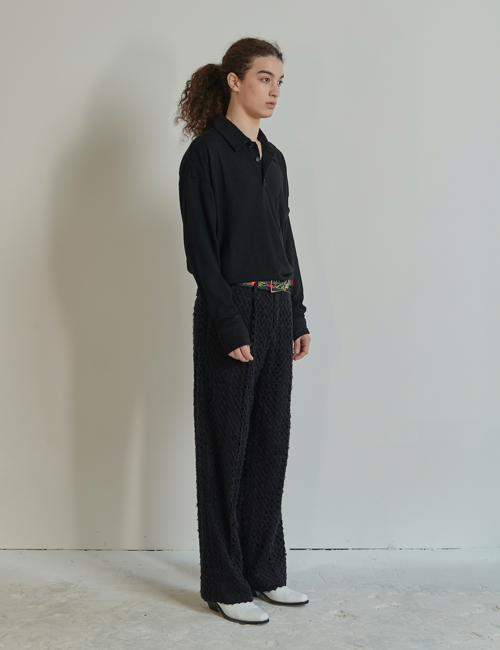 Wool Jersey Shirt Black