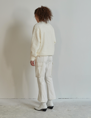 Boot Cut Pants White