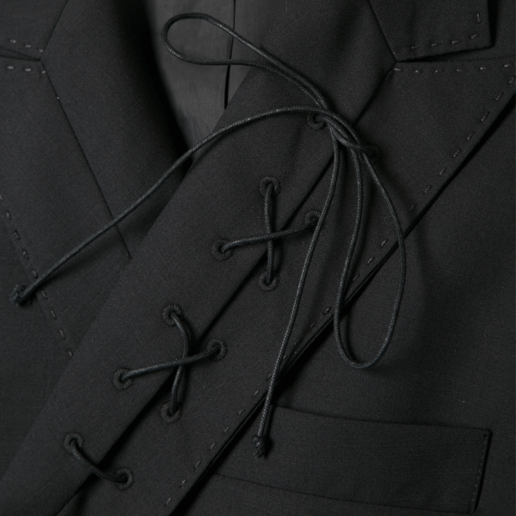 String Lapel Tailored Jacket