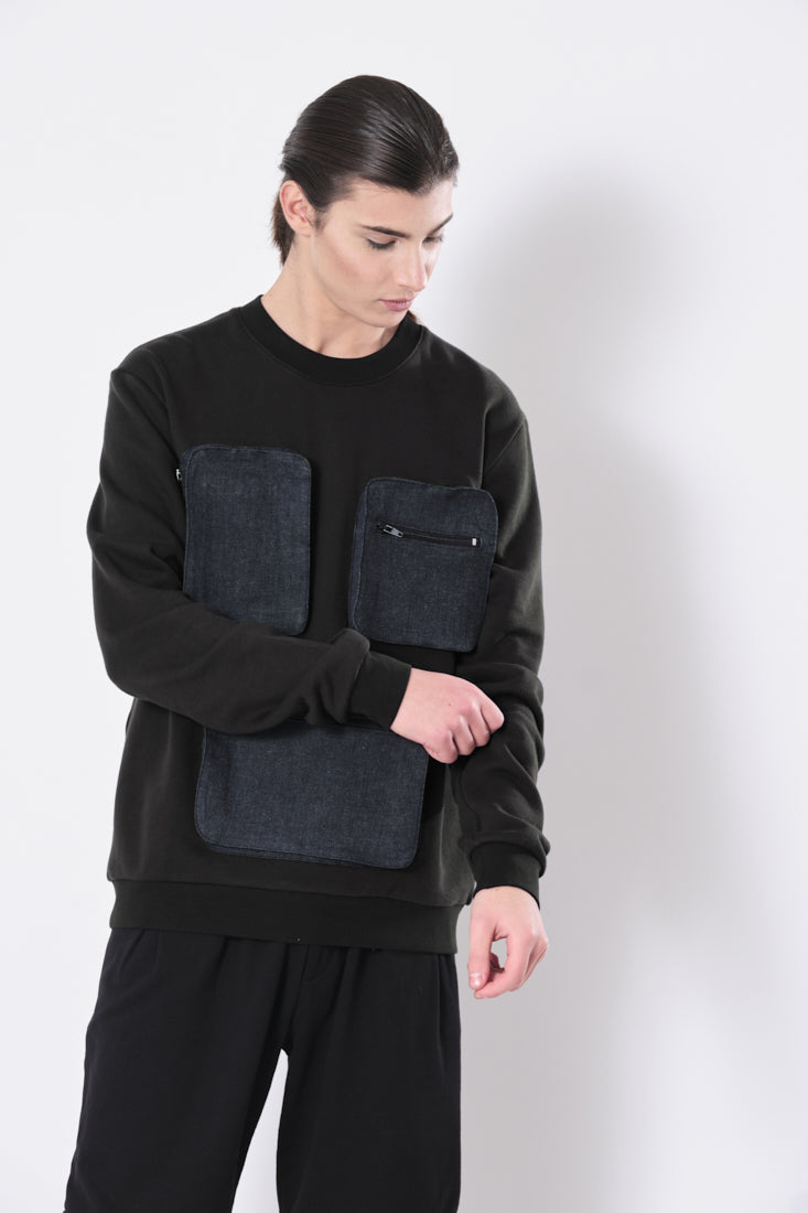 Boxes Sweatshirt in Black