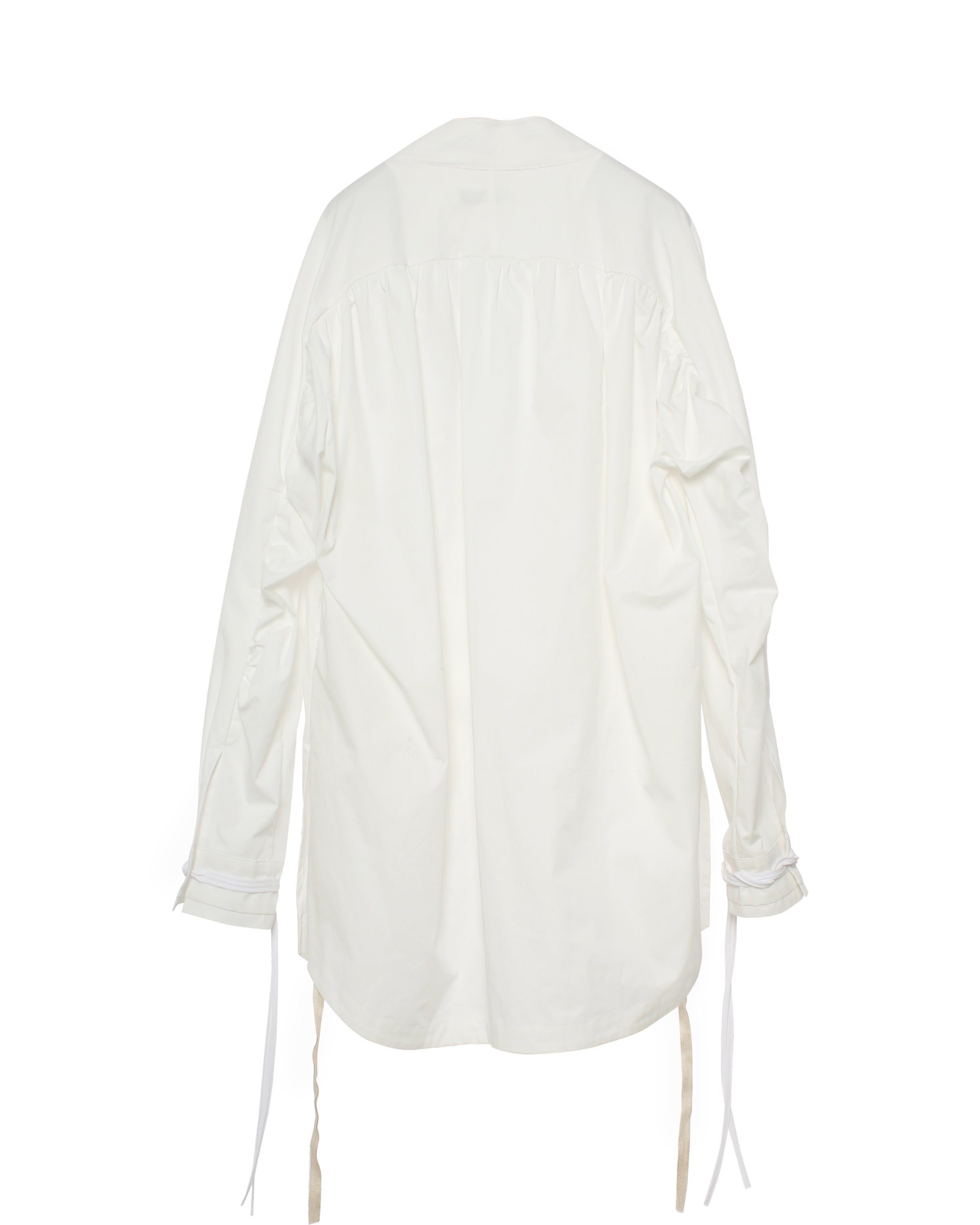 Transformed Shirring Shirt White