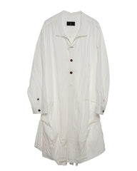 Back Open Long Cardigan White