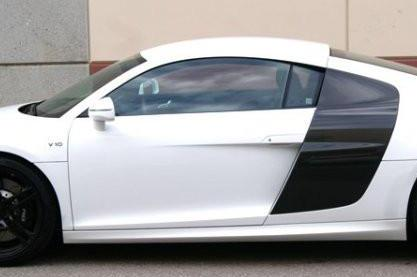 Side Skirts (2PC) Fiber Glass V10 Style / Audi R8 Coupe & Spyder 2007-2015