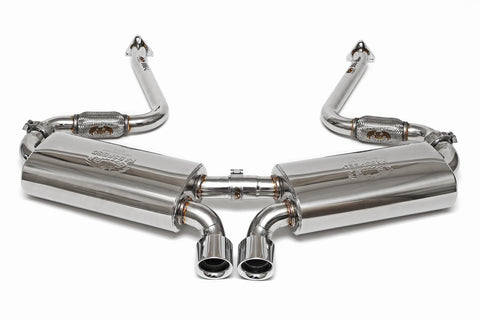 1997-1999 Porsche 986 Boxster Maxflo Performance Exhaust System with Sport Catalytic Converters and Polished Chrome Tips