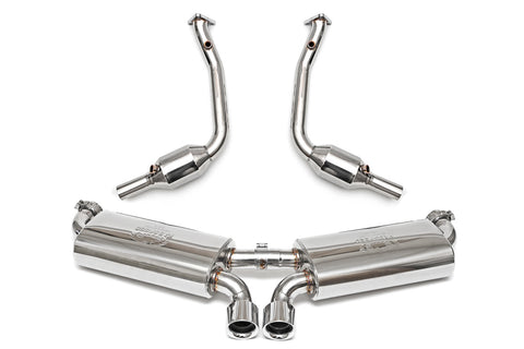 1997-1999 Porsche 986 Boxster Maxflo Performance Exhaust System with Cat Bypass and Polished Chrome Tips