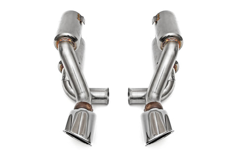 1995-1998 Porsche 993 Turbo Supercup Exhaust with Single Wall Oval Tips in Polished Chrome