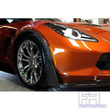 Corvette C7 Front Fender Mouldings / Carbon Fiber For Models Z06 Coupe, Z06 Convertible, 2 Door Coupe, 2 Door Convertible