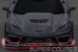 Corvette C7 Front Lip S / Fiberglass For Models Z06 Coupe, Z06 Convertible, 2 Door Coupe, 2 Door Convertible