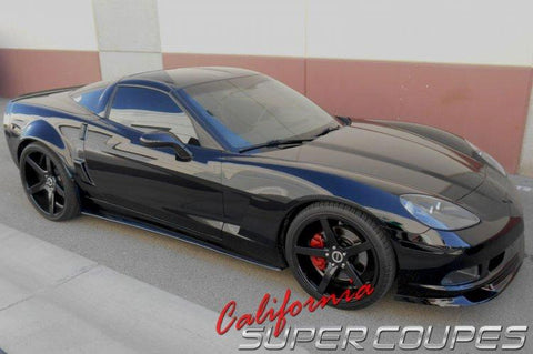Corvette C6 Front Splitter / Side Skirts / Splash Guards Wide Carbon Fiber For All C6 Models