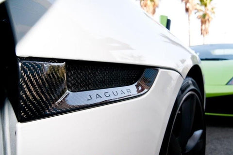 Side Power Vents (2PC) Carbon Fiber / Jaguar F-Type  2014-2016