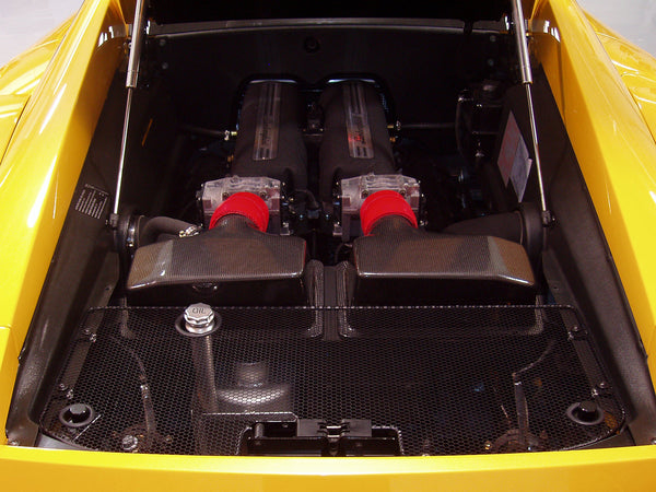 2004-2008 Lamborghini Gallardo Carbon Fiber Airboxes with Silicone Hose Kit Included