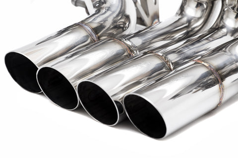 2011+ Lamborghini Aventador Valvetronic Exhaust System - Polished Stainless Steel Tips