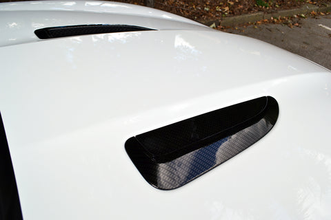 Jaguar F-Type 2014-2016 Carbon Fiber Hood Vents (2PC)