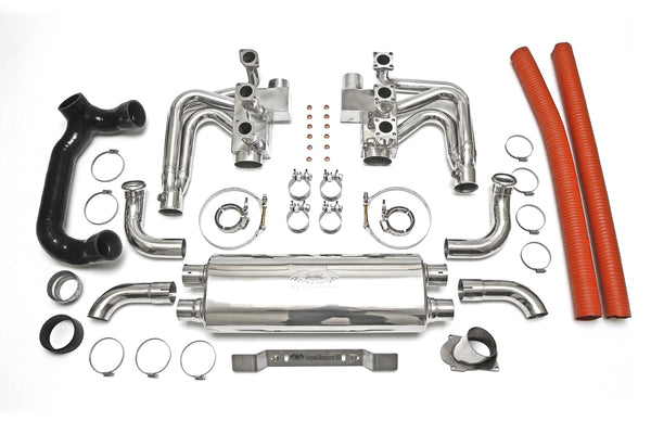 1994-1998 993 Carrera RSR Header Muffler Kit Without Heat, With Sport Catalytic Converters and Competition Muffler Outlets