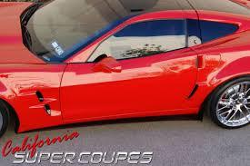Corvette C6 Side Skirts / Splash Guards Wide Fiberglass For All C6 Models