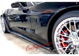 Corvette C6 Side Skirts / Splash Guards Wide Carbon Fiber For All C6 Models