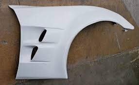 Corvette C6 Front Fender ZLR Superwide ZR1 Style With Liners Fiberglass For All C6 Models