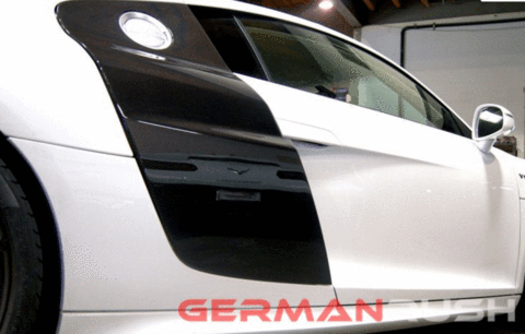 Audi R8 2007-2015 Carbon Fiber V10 Style Side Panel Blades (2PC)