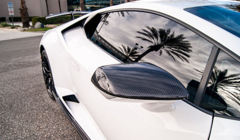 Huracan Corsa Mirror Covers (2PC) / Carbon Fiber (All Models)