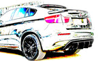 X6 Rear Diffuser (1PC) Carbon Fiber / BMW X6 2009-2014