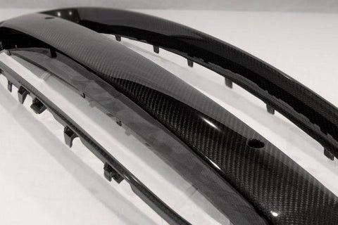 Jaguar F-Type 2014-2016 Carbon Fiber Grill Frame and License Plate Bar Kit (1PC)