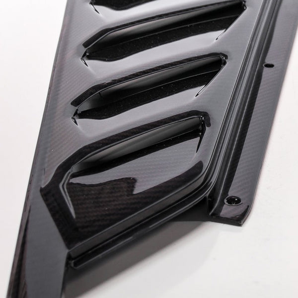 2-Piece Factory-Style Engine Vents / Lamborghini Huracan Carbon Fiber