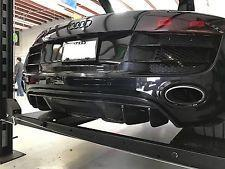 Rear Diffuser With Fins (1PC) Carbon Fiber V10 Style / Audi R8 2009-2012