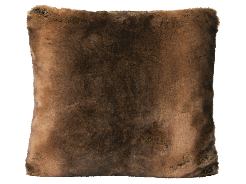 Winter Home Beaver Beaver Full Fur Coussin Winter Home Cushion Textil