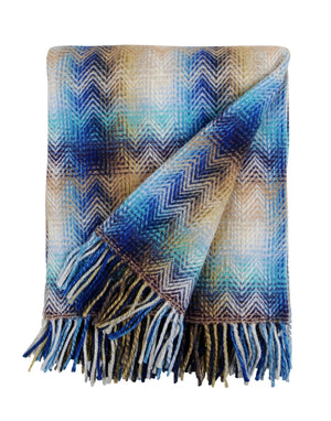 Missoni Blue Geometric Plaid Missoni Plaids Textil