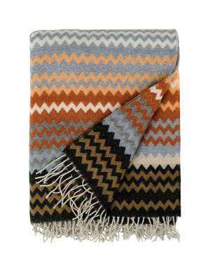 Missoni Brown Zigzag Plaid Missoni Plaids Textil