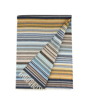 Missoni Blue Stripes Plaid Missoni Plaids Textil
