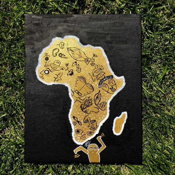 Hand Painted Wall Canvas Africa