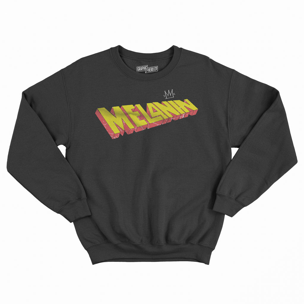 Melanin Superhero Crew Neck Sweatshirt