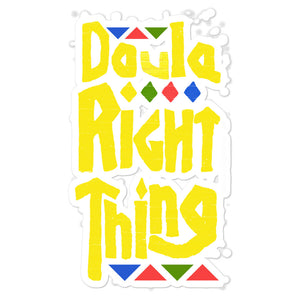 Doula Right Thing Bubble-free stickers