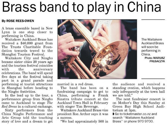 Band To Travel To China