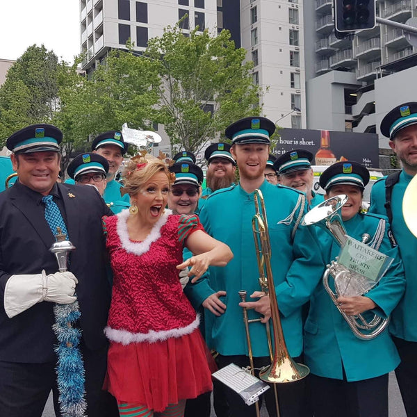 brass band santa parade auckland