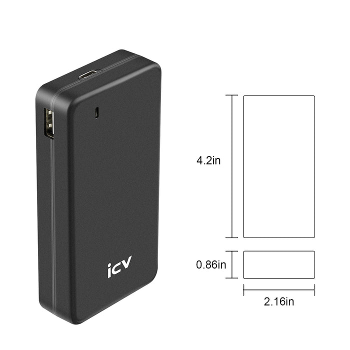 45W Type-C PD Laptop Charger ICV USB C AC Power Adapter With 1 Port Dual USB