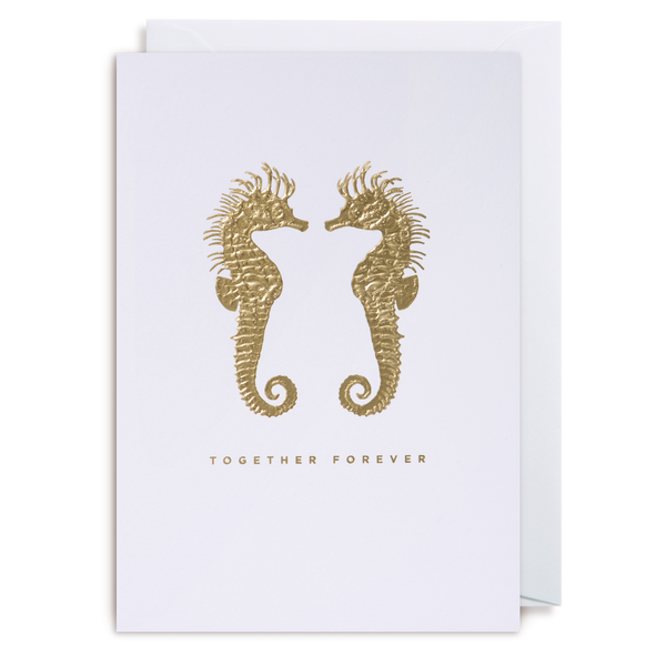 TOGETHER FOREVER SEA HORSES CARD