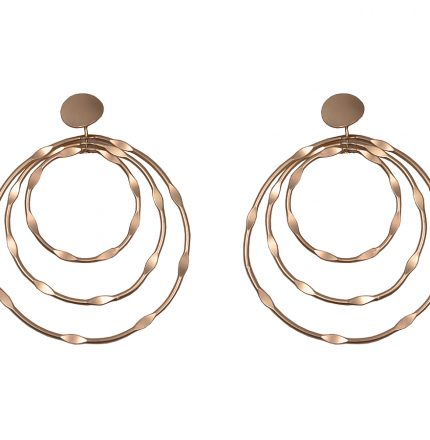 IRIS HOOPED EARRINGS - ROSE GOLD
