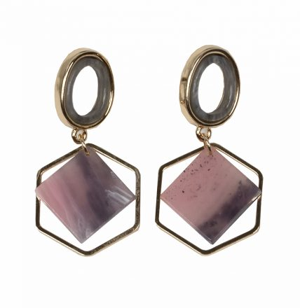GEO HEXAGON EARRINGS