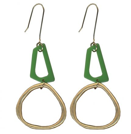 MALIA EARRINGS - GOLD/GREEN