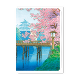 CASTLE & CHERRY BLOSSOMS GREETING CARD