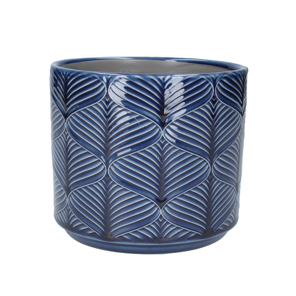 NAVY WAVE POT COVER - SML