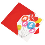 NEW BABY BALLOONS CARD