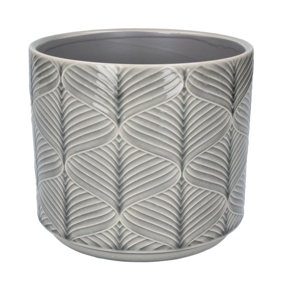 GREY WAVE POT COVER - MED