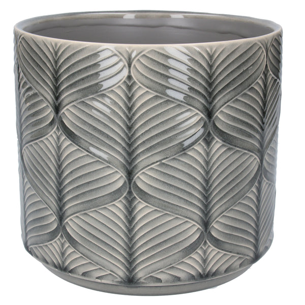 GREY WAVE POT COVER - LG