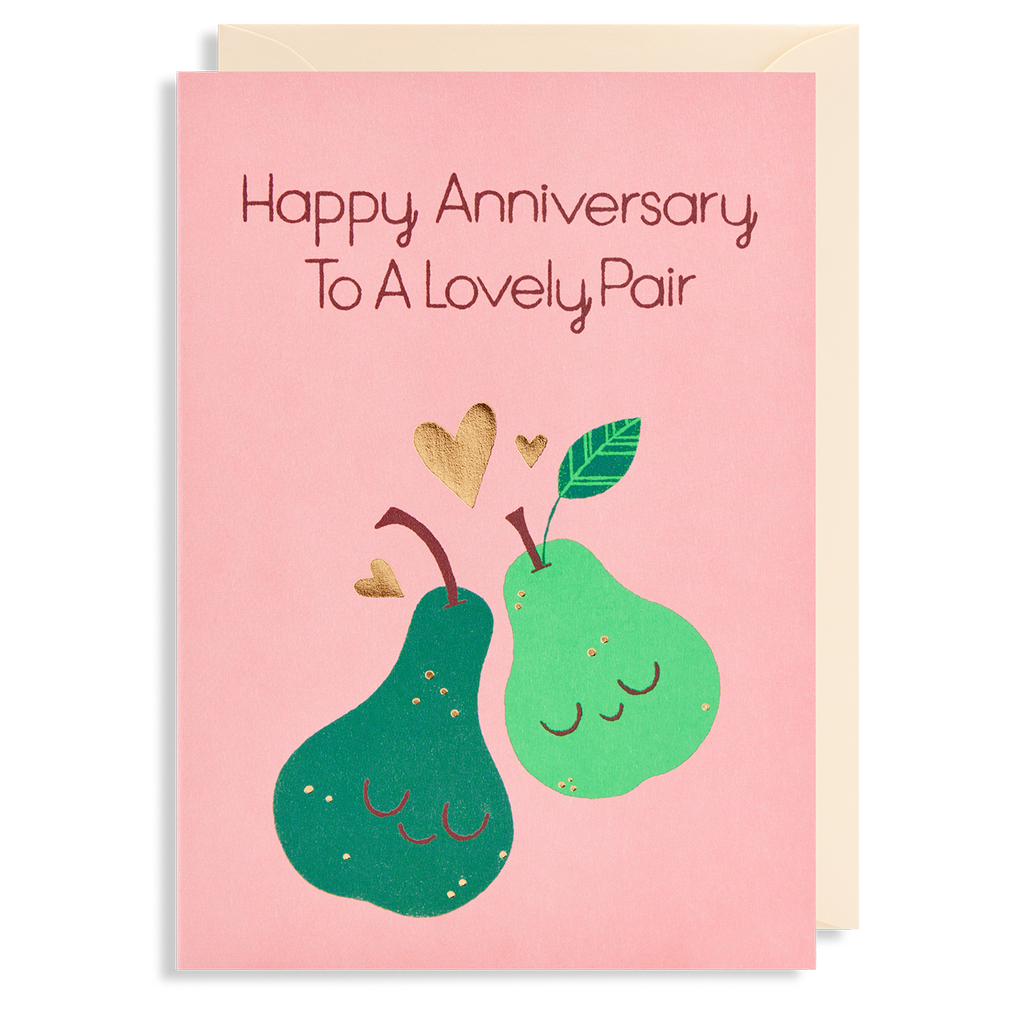 LOVELY PAIR ANNIVERSARY WISHES CARD