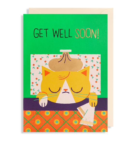 GET WELL KITTY CARD