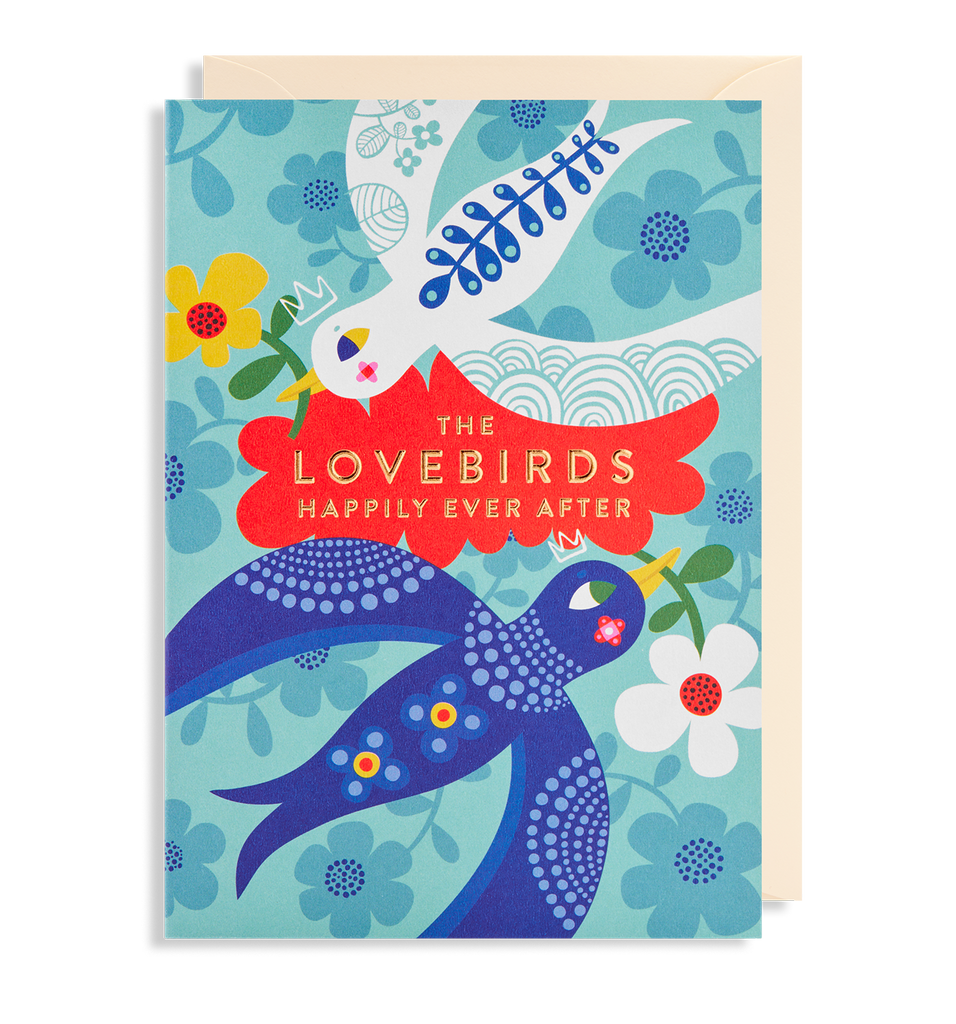LOVE BIRDS HAPPILY EVER AFTER CARD