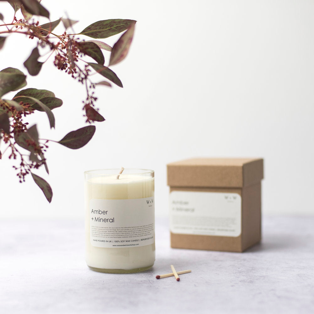 AMBER & MINERAL CANDLE